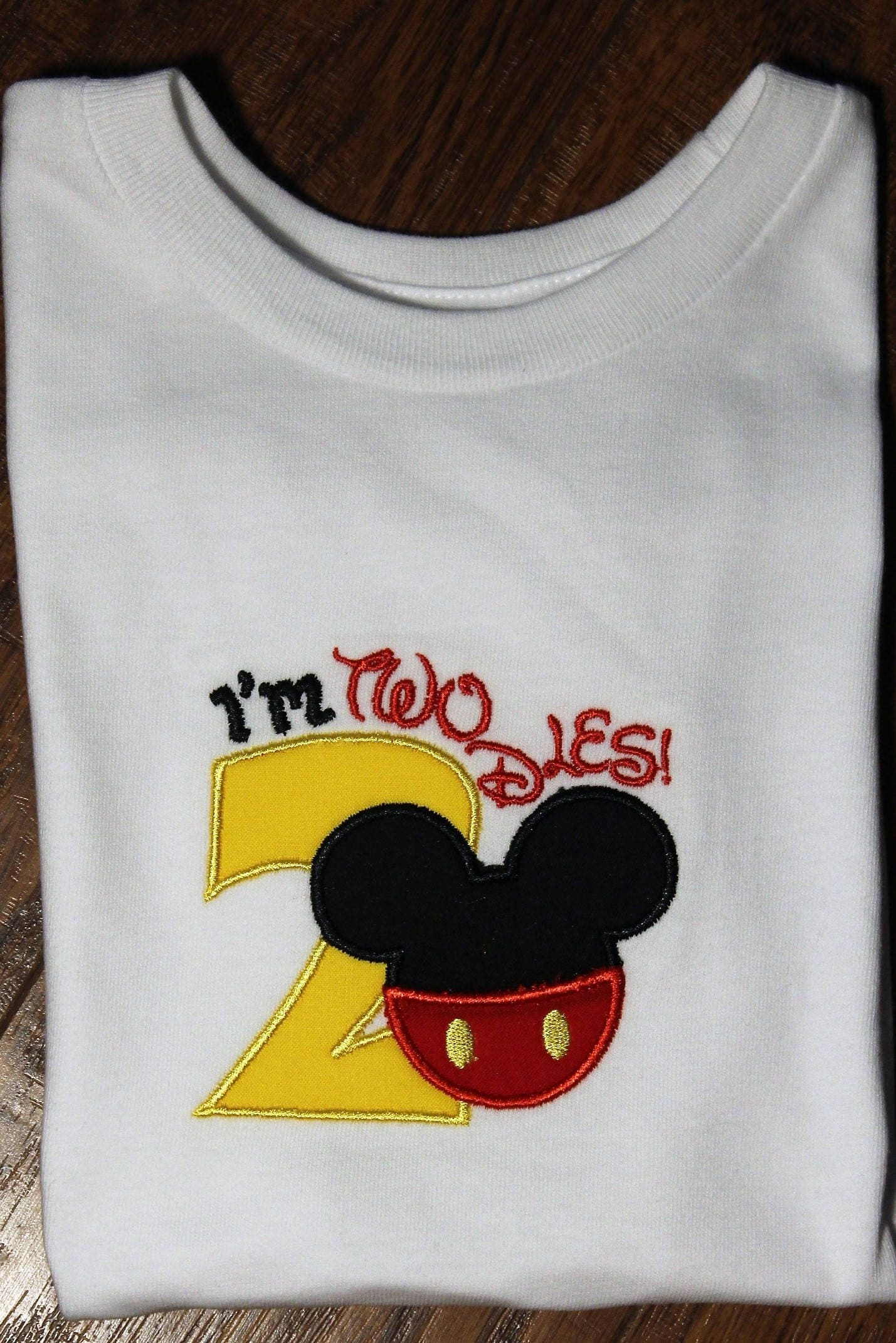 Im Twodles Boy Birthday Shirt Boys 2nd Second Mickey Mouse Inspired Disney