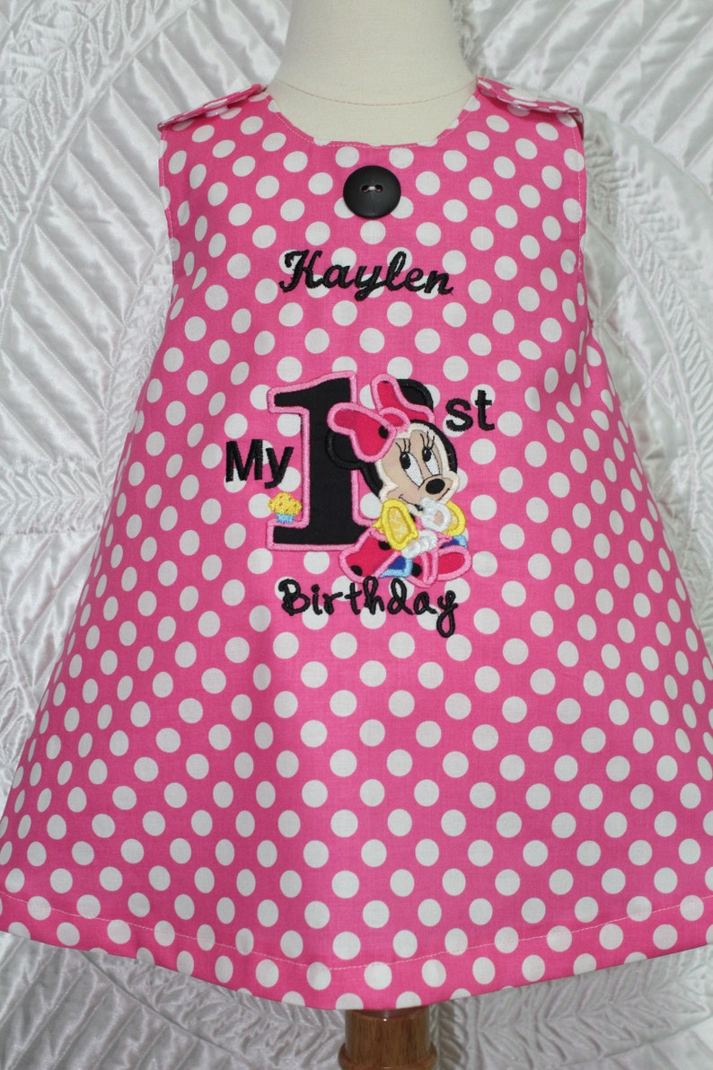 Minnie Mouse Inspired 1st Birthday Dress First Birthday Etsy