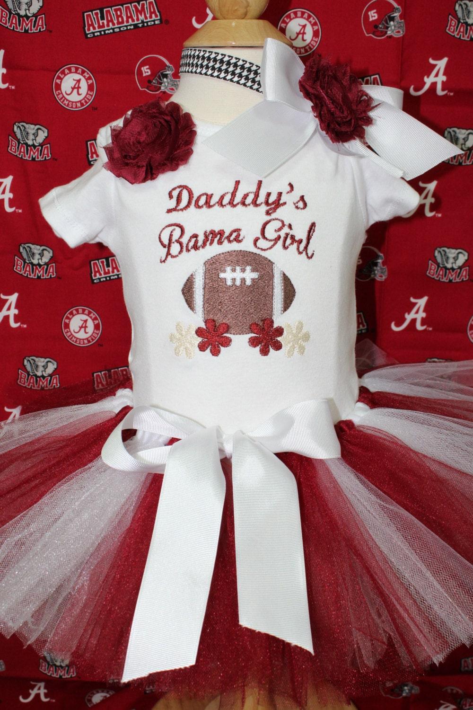 Alabama roll tide crimson bodysuit football daddy baby | Etsy