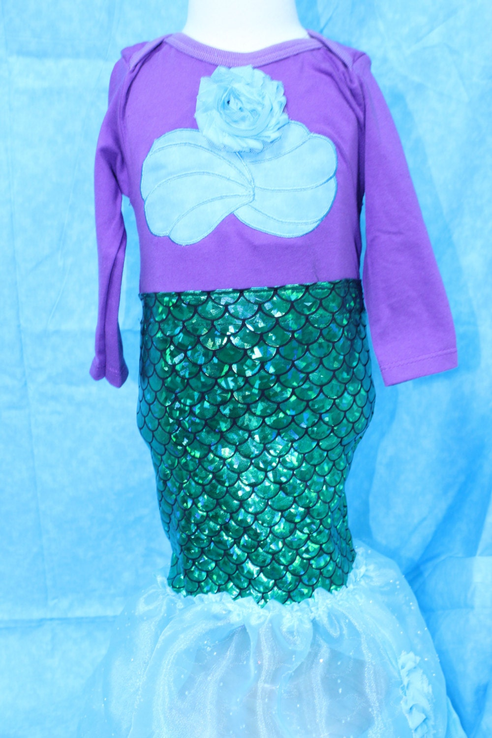 7acf7a2307 Mermaid costume,Halloween costume,Ariel costume,Purple mermaid,blue  iridescent mermaid tail dress,Tropical mermaid costume Halloween