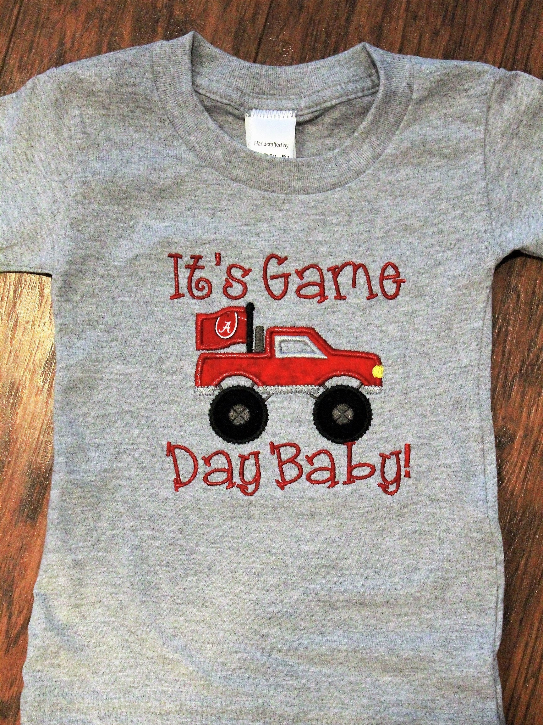 3bfd97c3844 Alabama, Crimson Tide, baby boy clothes, football bodysuit, gray shirt, baby  clothes, baby shower gift, custom, handmade, newborn