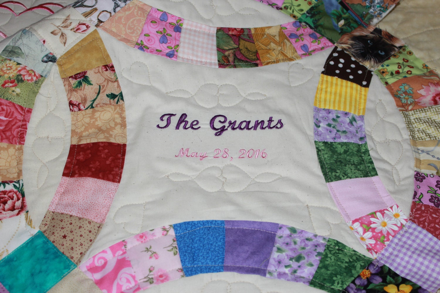 Double Wedding Ring Quilt, Wedding Ring Quilt, Wedding Gift ...