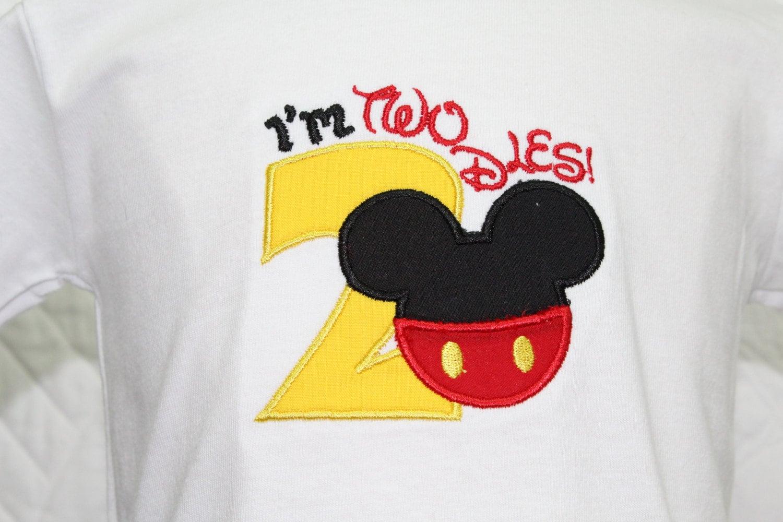Mickey Mouse Inspired Shirt 2nd Birthday Shirts Tshirt T Baby Boy Personalized Custom