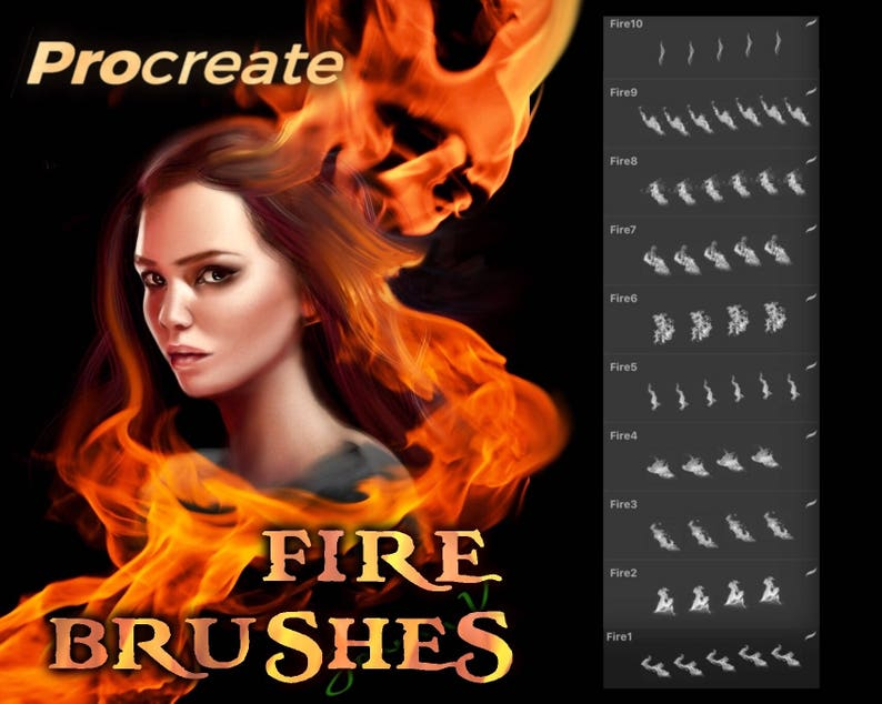 Fire and flames brushes  procreate image 0