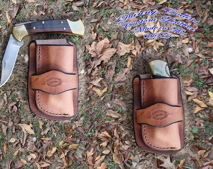 Custom Knife Sheath, Cowboy knife sheath, Harness Leather Knife Sheath