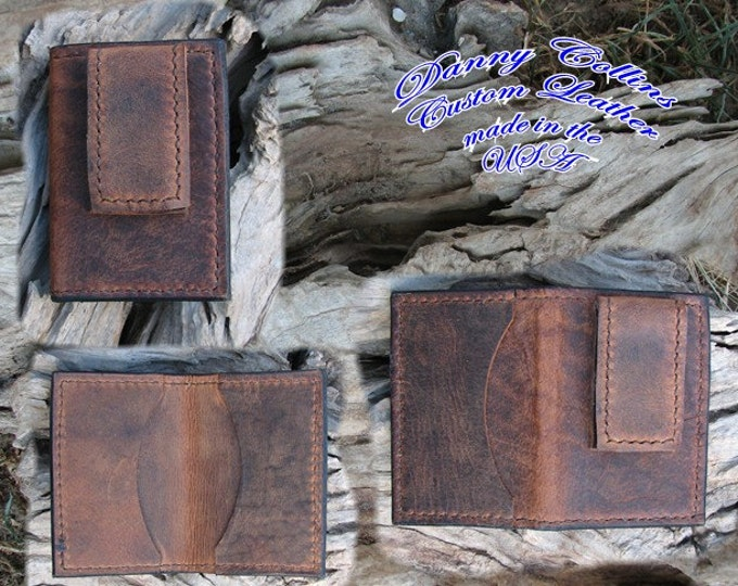 Buffalo leather Money Clips