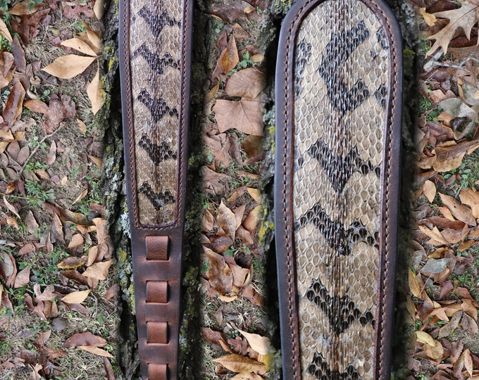 Rifle Sling, Rattlesnake Rifle Sling, Snake Skin, Buffalo Rattlesnake Rifle Sling, Timber Rattlesnake Rifle Sling