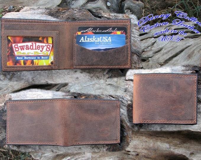 Buffalo leather Bifold wallet