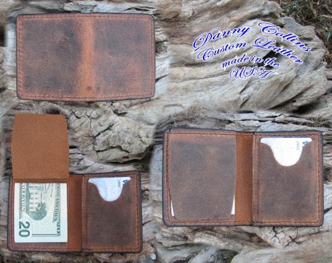 Buffalo leather Hideaway wallet