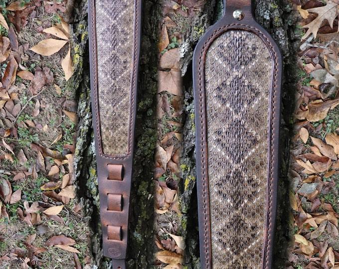Rifle Sling, Buffalo & Rattlesnake, Rifle Sling, Snake Skin,Rattlesnake Rifle Sling