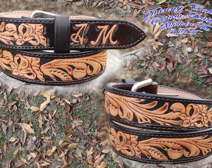 Custom leather belts, Tooled leather belts, Western Belts