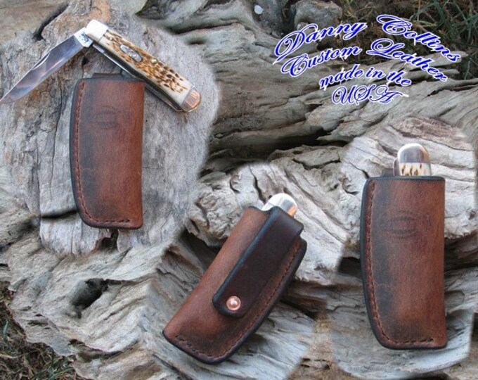 Buffalo Case Trapper Knife sheath, Vertical Carry Trapper Sheath