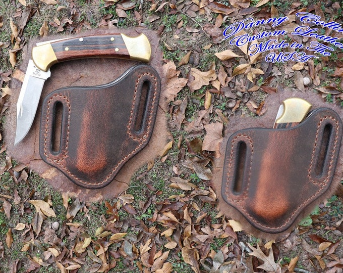 Buffalo Leather Knife Sheath/ Buck 112 knife sheath/ Knife Scabbard