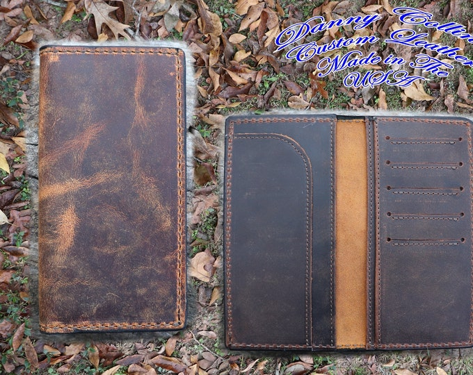 Badlands Elk Checkbook Wallet With, Elk Roper wallet, Elk Long Wallet, Leather Wallet, Mens Wallet
