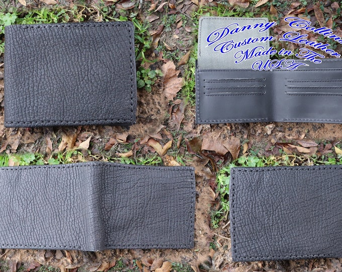 Shark wallet with ID, Genuin Shark Leather Wallet Leather bifold wallet, Mens Leather Bifold