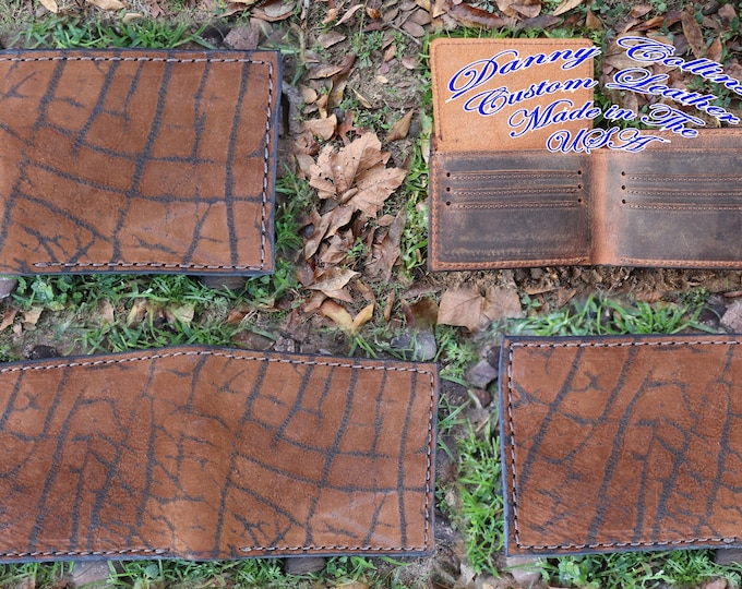 Giraffe Leather Bi fold wallet, Leather wallet, Exotic Leather wallet