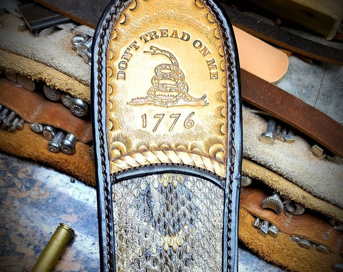 Dont Tread On Me Rifle Sling. Rattlesnake and buffalo Rifle sling.