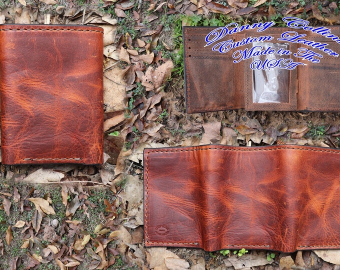 Tri fold Wallet,  leather Tri fold wallet, Mens Wallet, Mens Tri fold wallet