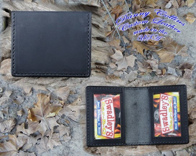 ID Wallet, ID, CHL Wallet, Black Buffalo Wallet,  Identification Wallet