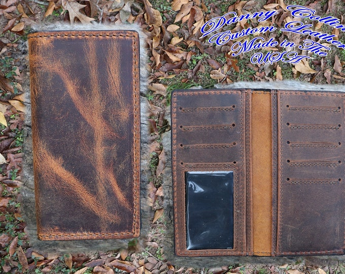 Badlands Elk Checkbook Wallet With ID, Elk Roper wallet, Elk Long Wallet, Leather Wallet, Mens Wallet