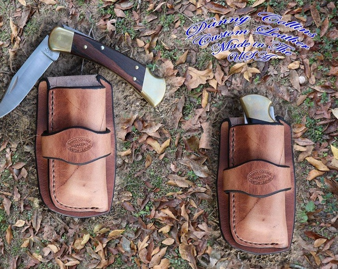 Cowboy knife sheath, Harness Leather Knife Sheath, Custom Knife Sheath