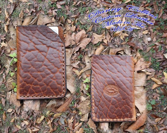 Card Wallet, Credit Card Wallet, Credit Card Case, Minimalist Wallet, Front Pocket Wallet, American Bison Leather