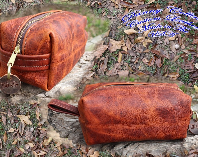 Dopp kit, Leather Shaving Bag, Leather Toiletry Bag