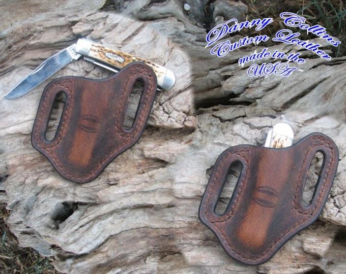 Buffalo Leather Knife Sheathes, Case Trapper sheath