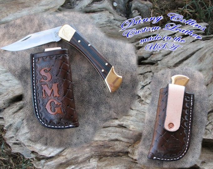 Personalized vertical carry leather knife sheathes, Custom knife sheaths, Case knife Sheath, Buck Knife Sheath