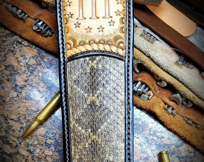 Three Percenter Rifle Sling. Rattlesnake and buffalo Rifle sling.