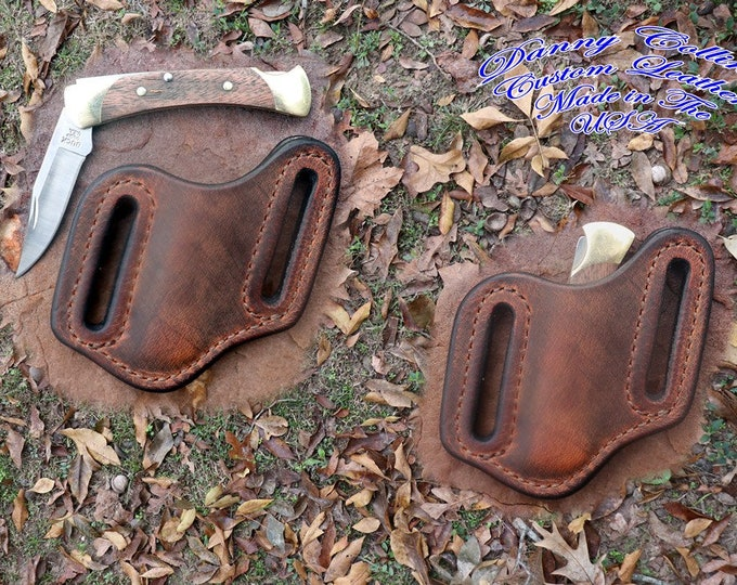 Buffalo Leather Knife Sheath/ Buck 55 knife sheath/ Knife Scabbard