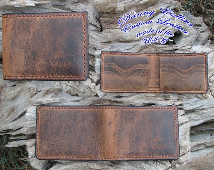Buffalo leather Bi fold wallet
