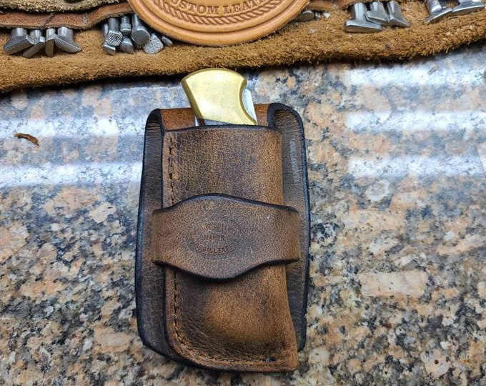Buck 110 Cowboy knife sheath, Buck 110 Buffalo knife sheath (This is not a Buck product)