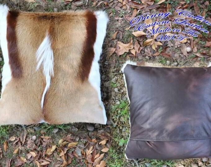 Throw Pillow,  Exotic African Springbok Luxury Throw Pillows