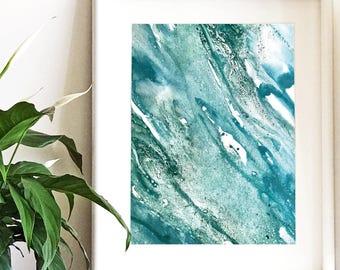 River - Watercolour Art Print