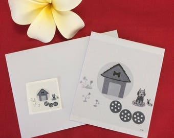 Blank greeting card, thank you card, special person card, friendship card, birthday card, housewarming card. Handmade, Quality card stock.