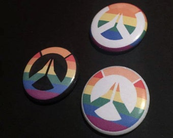 Overwatch Pride Buttons (3 Styles)