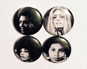 Audre, Gloria, Angela & bell Button Set (4 Pack)