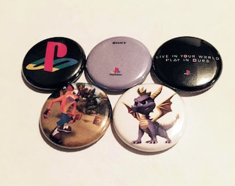 90s PlayStation Button Set (5 Pack)