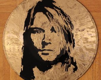 Kurt Cobain on Vinyl Record