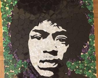 Jimi Hendrix out of Guitar Picks
