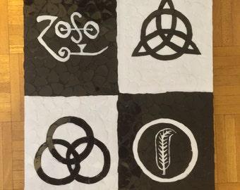 Led Zeppelin Symbols out of Guitar Picks