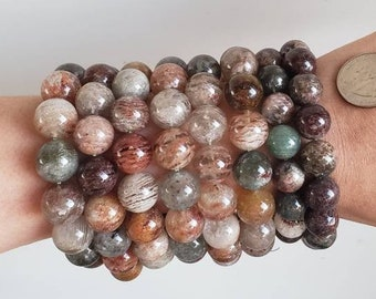 Full Strand Natural Smelt Amphibole In Quartz NecklaceSmelt Amphibole Quartz BeadGift for HerGirlfriend GiftSmelt Amphibole beads