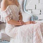 Final Payment Boho Off Shoulder Lace Wedding Dress Blush Romantic Wedding Dress Sexy Strapless Beach Dress Vintage Corset Wedding Dress