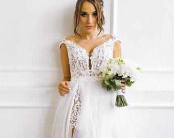 8ae9643a56 Beach wedding dress