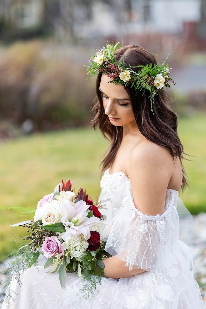 e3c94b92406d Blush wedding dress fairytail boho wedding dress delicate | Etsy