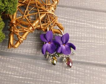 4eec12ba563e Violet drop earrings