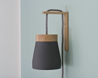 Frida wall light grey (anthracite) or white, height adjustable, UK/US Plug available
