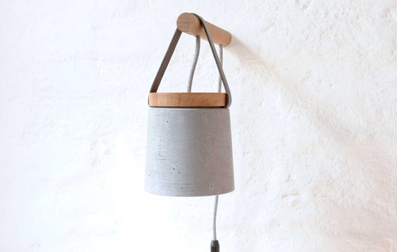 Wall Light Plug In Wall Sconce Scandinavian Design Etsy