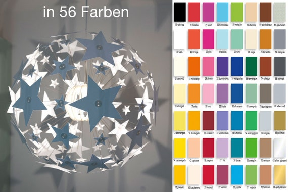 Stars in your choice color for your IKEA Maskros 55 cm